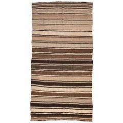 20th Century, Striped Kilim Rug from Afghanistan