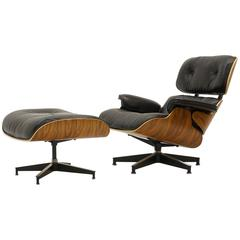 Eames 50th Anniversary Lounge Chair and Ottoman, Santos Palisander, 2006