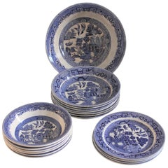 Ridgeway Blue Willow 19 Piece Serving Set