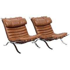 "Pair of ""Ari"" Lounge Chairs by Arne Norell"