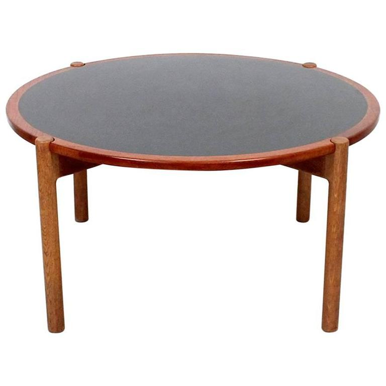 Hans Wegner Coffee Table with Reversible Top For Sale