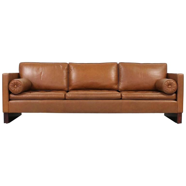 leather sofa by mies van der rohe for knoll for sale at 1stdibs. Black Bedroom Furniture Sets. Home Design Ideas
