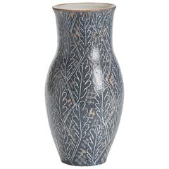 Vintage Van Der Straeten Studio Pottery Leaf Vase, 1965
