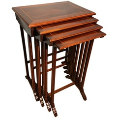 Set of Four Nesting Tables, Stacking Tables