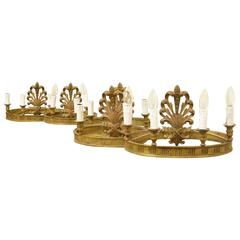 Set of Decorative Bronze Oval Wall Lights
