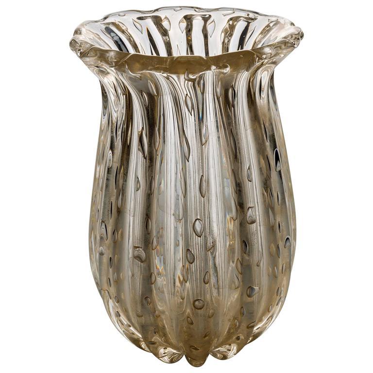 Fine Murano Glass Vase, Fratelli Toso 1950s