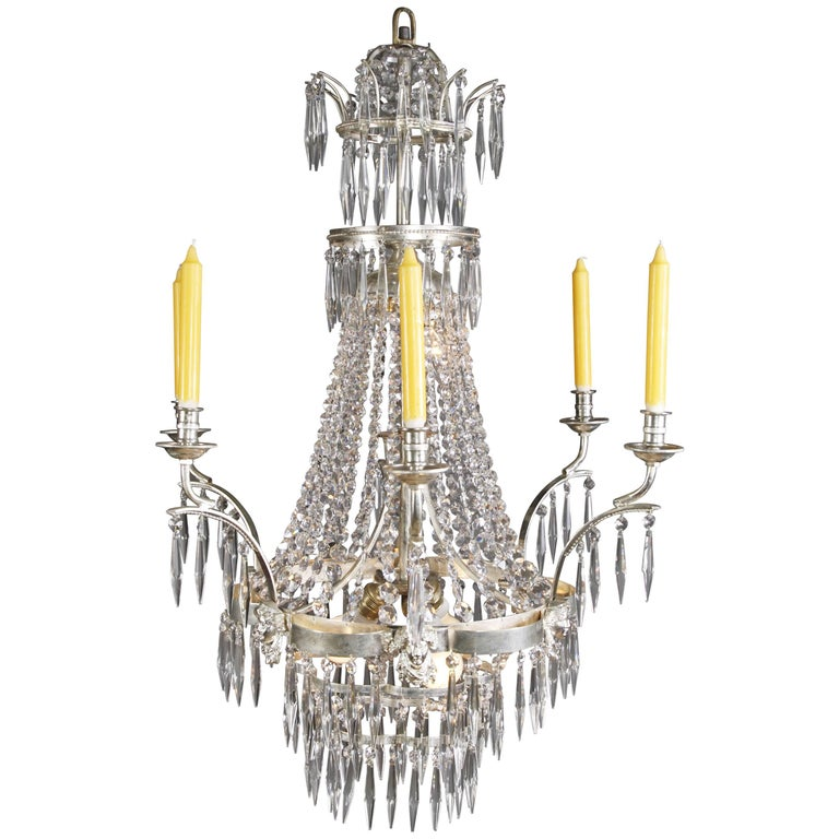 Swedish Chandelier in the Style of Classicism For Sale