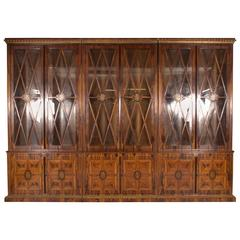20th Century Highly Detailed Library Cabinet in Biedermeier Style
