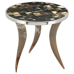 "Bones and Horns ""L"" Side Table"
