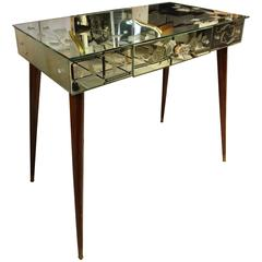 Mid-20th Century French Mirrored Vanity Table
