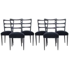 Paolo Buffa Set of Six Wood Dining Chairs