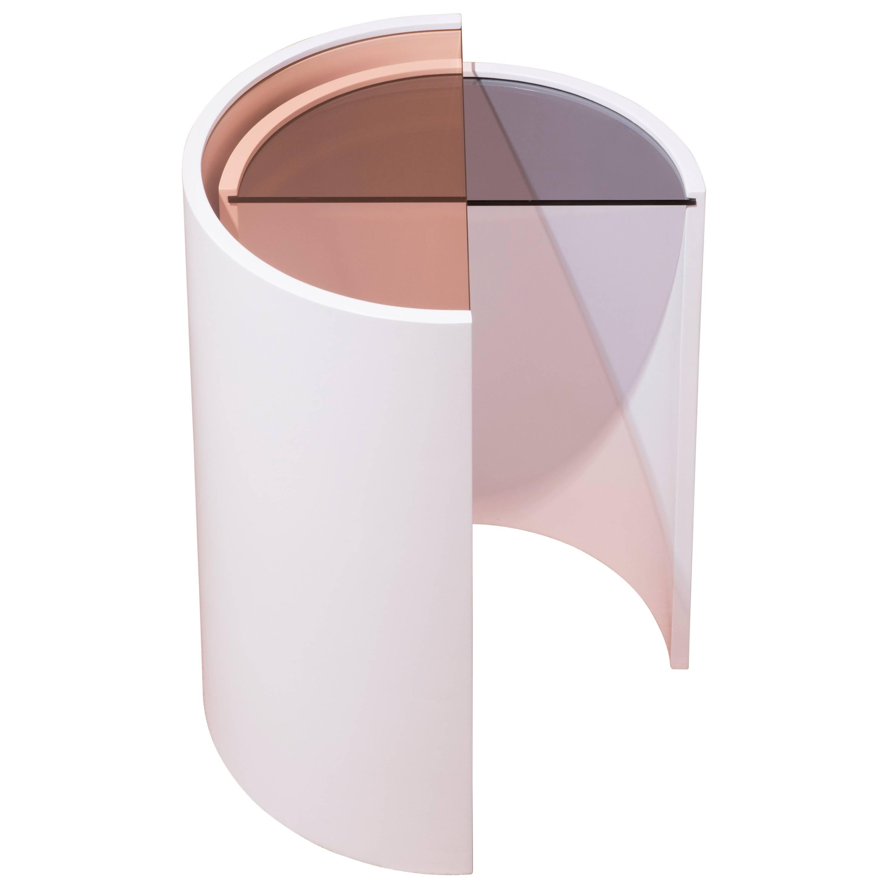 Contemporary Contour Side Tables by Bower, Made in USA
