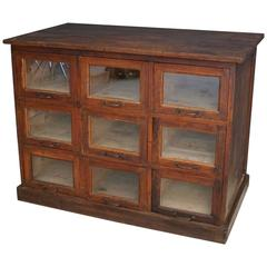 French Pine Haberdashery Shop Cabinet, 1930s