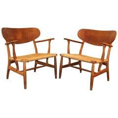 Pair of Hans Wegner Shell Chairs