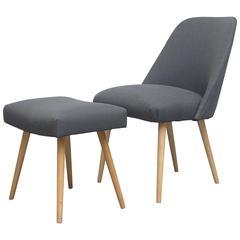 Saarinen Style Cocktail Chair and Ottoman