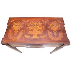 Superb 19th Century Dutch Marquetry Flip-Top Game Table