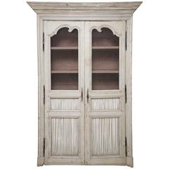 Beautiful 19th Century Hand Painted French Provincial Cupboard