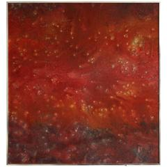 Contemporary Abstract Red Painting