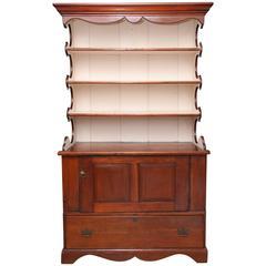 Superb 1800's  American Pewter Cupboard