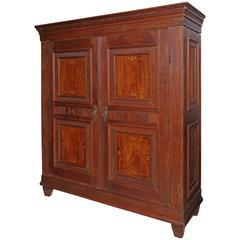 Superb 19th Century French Solid Oak Two-Door Armoire