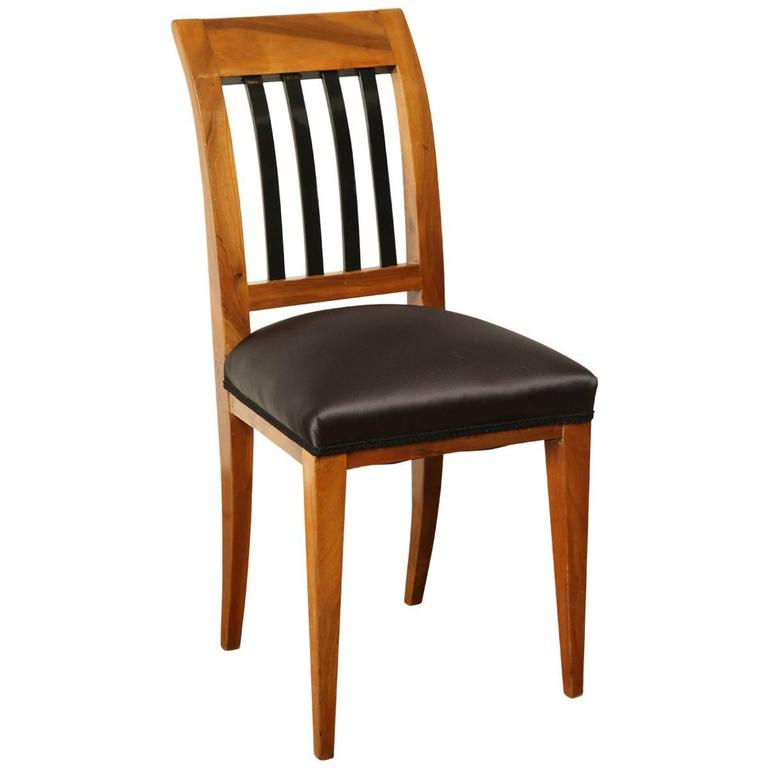 Austrian Walnut Side Chair For Sale