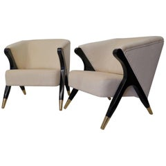 Two Art Deco Armchairs, Italy, 1930s
