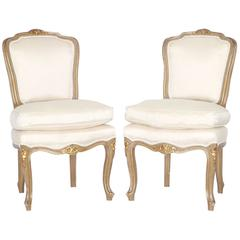 Pair of Early 20th Century Louis XV Style Children's Chairs