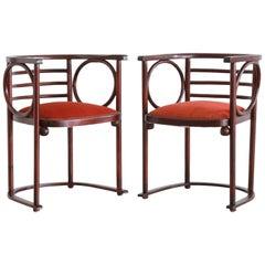 Josef Hoffman Pair of Fledermaus Chairs