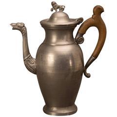 Large German Pewter Coffee Pot, circa 1900