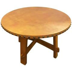 Stickley Commemorative Leather Topped Game Table