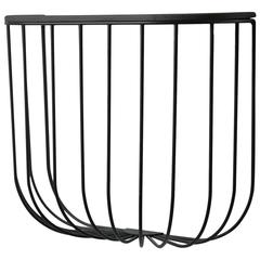 Cage Wall Shelf by from Us with Love, in Black or White Powder-Steel with Wood