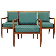 Mid-Century Modern Pair of Robsjohn-Gibbings for Baker Lounge Armchairs, 1950s