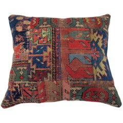 Antique Patchwork Rug Pillow
