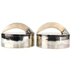 Pair of Boxes with Horn Handles