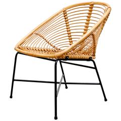 Rohe Noorwolde Squat Squared Bamboo Lounge Chair