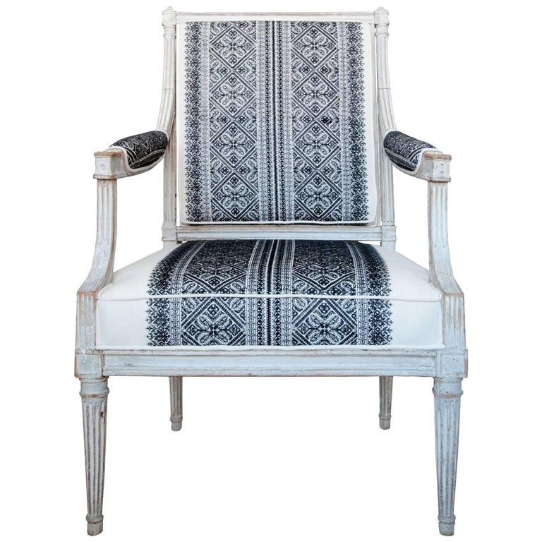 18th Century Jean Avisse Signed Hand-Carved Bergère French Armchair