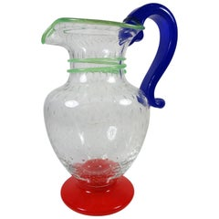 Italian Mid-Century Murano Art Glass Pitcher