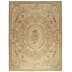 Vintage Chinese Aubusson Area Rug with Louis XV and French Provincial Style