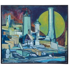Louise Odes Neaderland 1964 Architectural Painting