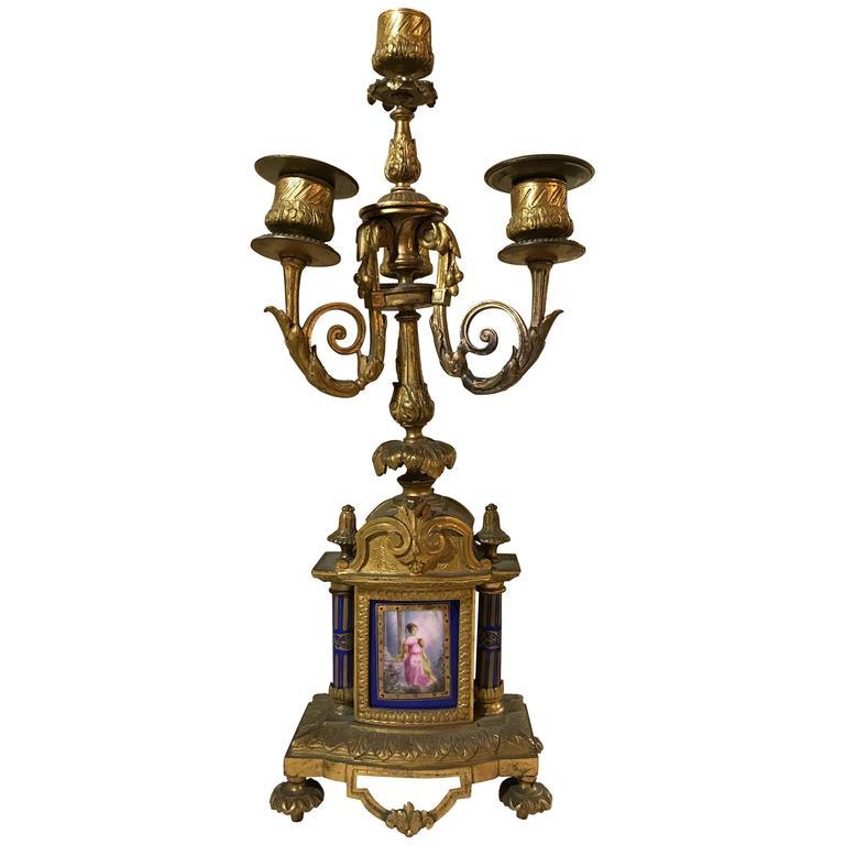 Bronze Four-Light Candelabra, 19th Century