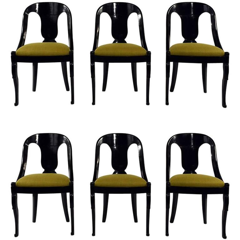dining chair clipart. set of six empire-style ebonized dining chairs 1 chair clipart i