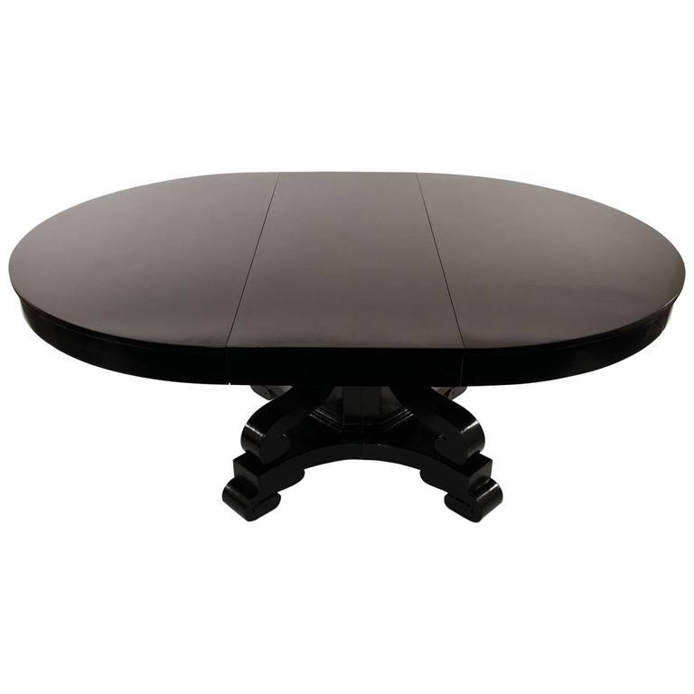 19th Century Ebonized Empire Style Dining or Center Table