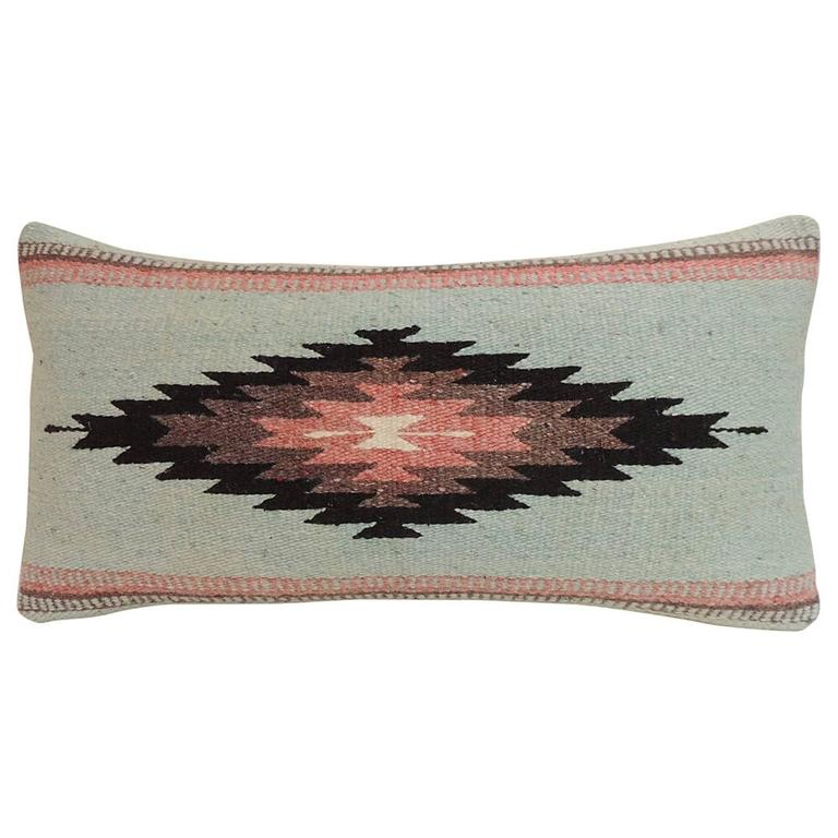 Large Decorative Bolster Pillows : Vintage Southwestern Style Woven Bolster Decorative Pillow For Sale at 1stdibs