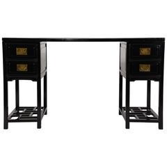 Vintage Chinese Ebonized Desk