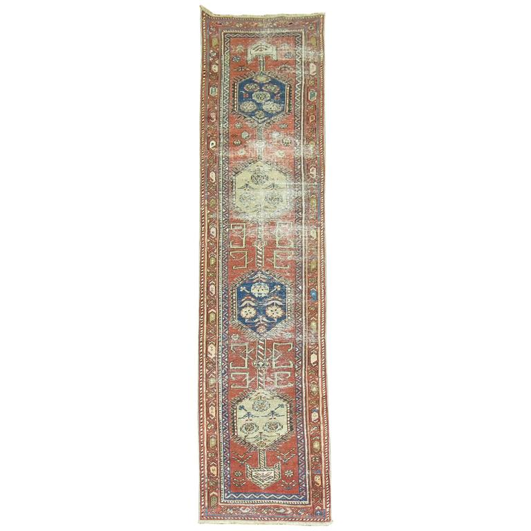 Persian Heriz Shabby Chic Runner