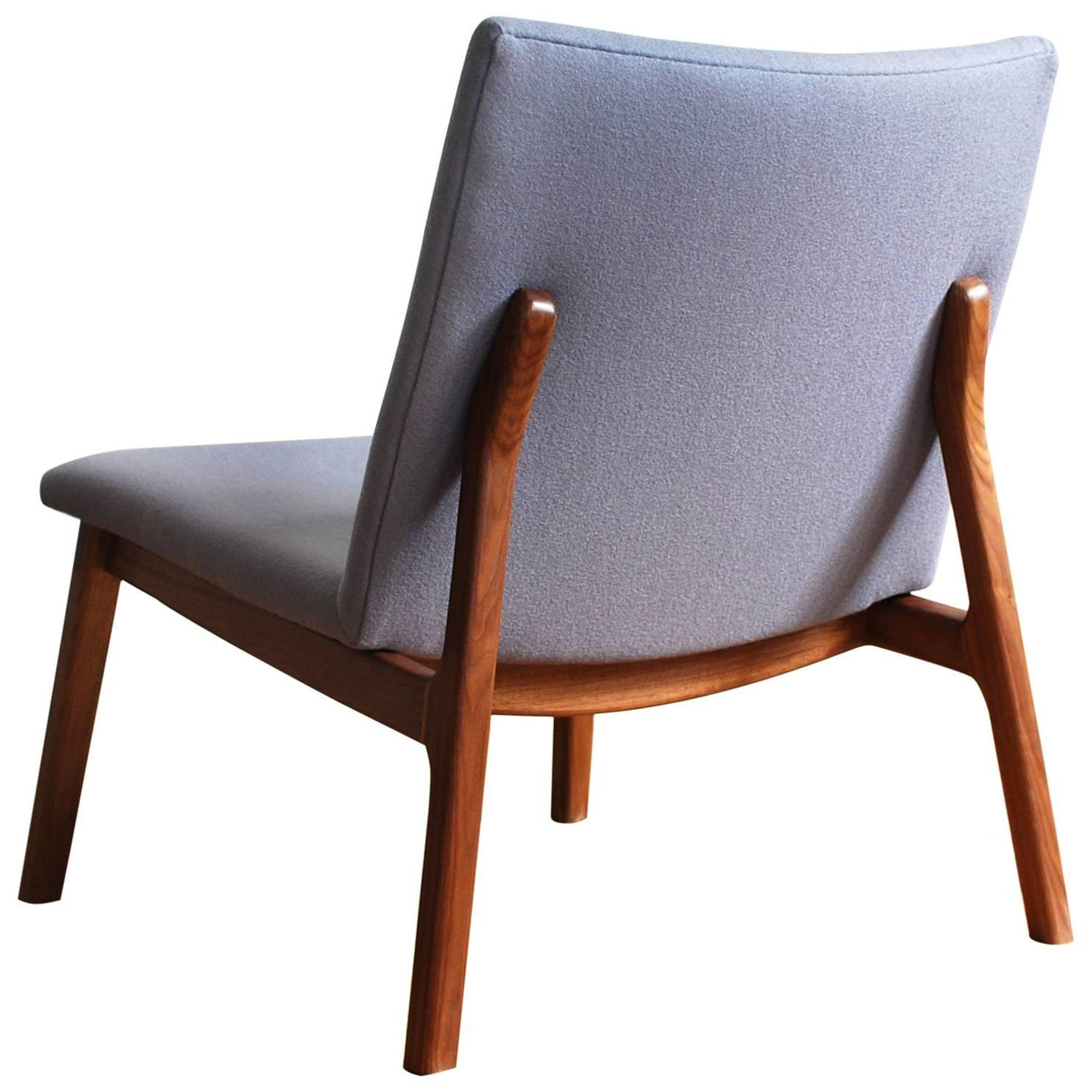 C07 handmade upholstered lounge chair in solid walnut by jason lewis furniture for sale at 1stdibs