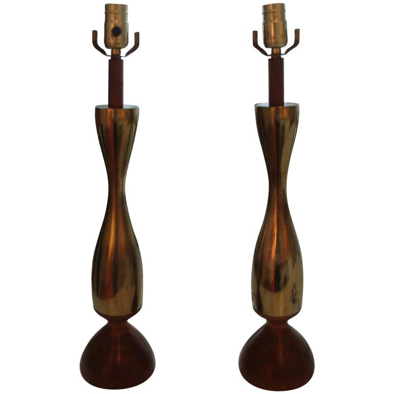 Pair of Vintage Tony Paul Lamps For Sale