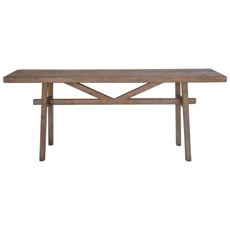 Dos Gallos Custom Reclaimed Wood Console in Light Finish For Sale at ... 2d43e54b0918