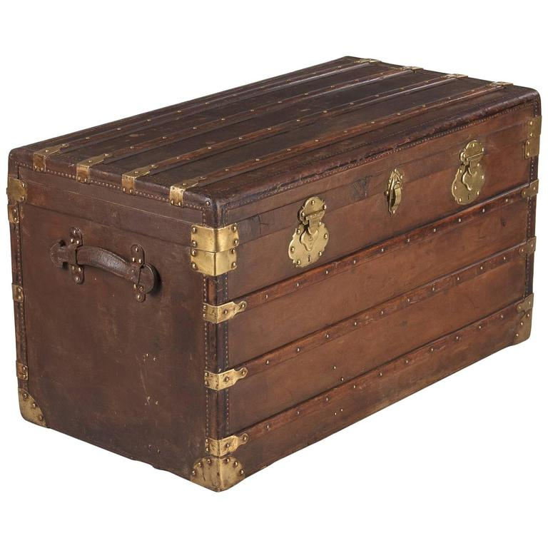 French Traveling Trunk, Early 1900s For Sale