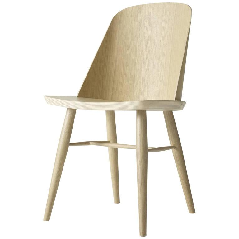 Synnes Dining Chair by Falke Svatun, Natural Oak, Swappable Glides